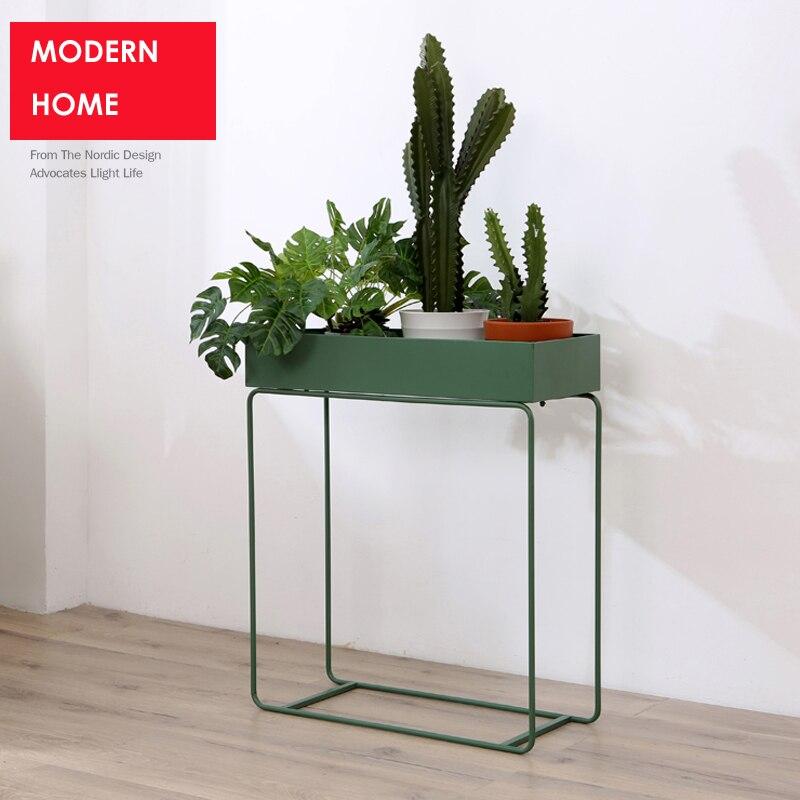 Elegant Moderne Loft Metall Blume Pflanze Regalständer Beistelltisch Lagerung  Minimalistischen Modernen Side Lagerung Tisch Multifunktions Dekoration