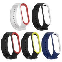 VODOOL Silicone Dual Color Wristband Bracelet Watch Strap For xiaomi mi band 3 4 bracelet Miband Sleek strap 2019 new