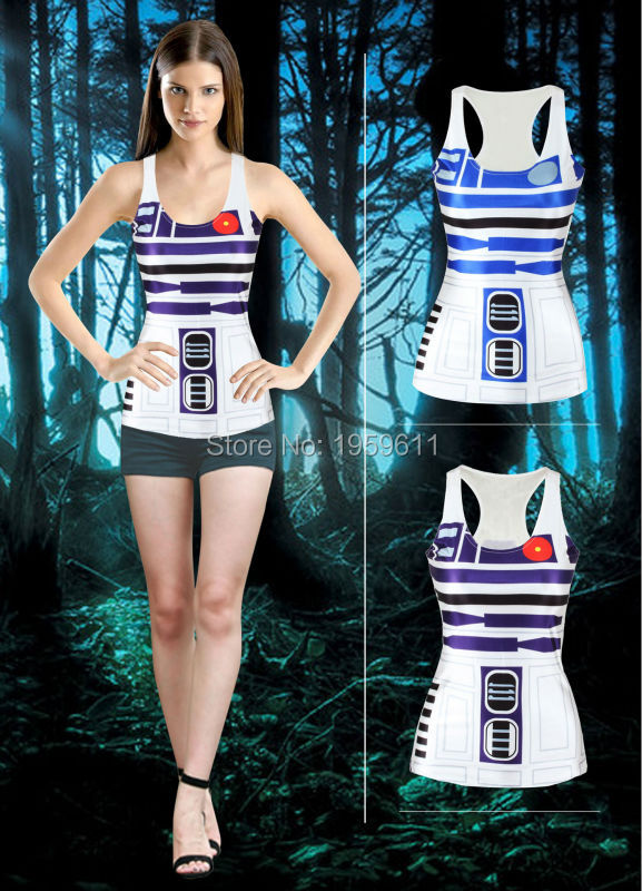 New Sexy Summer Style Women Vests Star Wars Cosplay Tank -7118