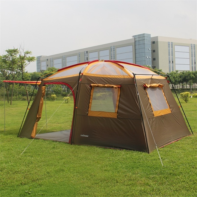 2015 Brand new 3 LAYER 1 bedroom 1 living room 5-8 person breathable anti rain outdoor party team base camping tent,family tent