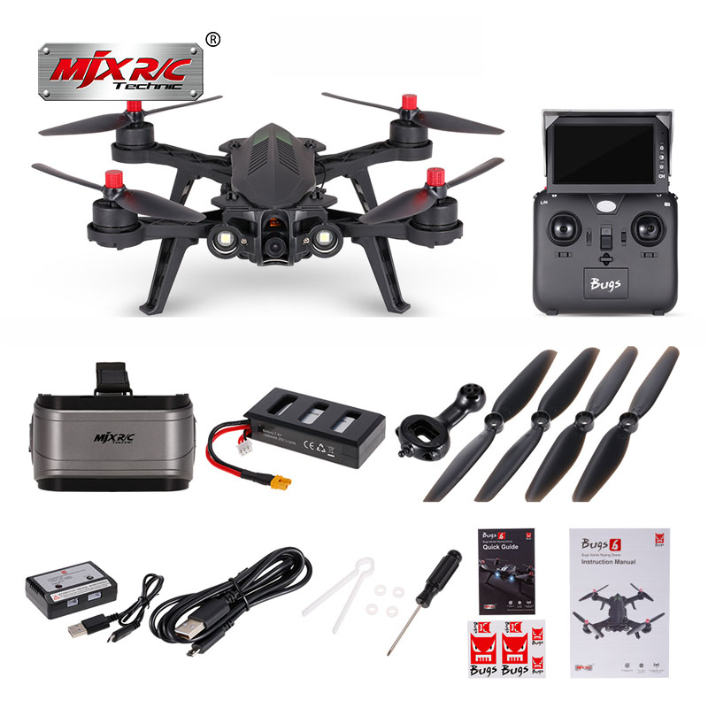 Profissional MJX Racing HD Camera Drone Bugs 6 WiFi Drone with FPV and 720p Camera Live Video Quadcopter Flying Toys for Kids in stock mjx bugs 6 brushless c5830 camera 3d roll outdoor toy fpv racing drone black kids toys rtf rc quadcopter