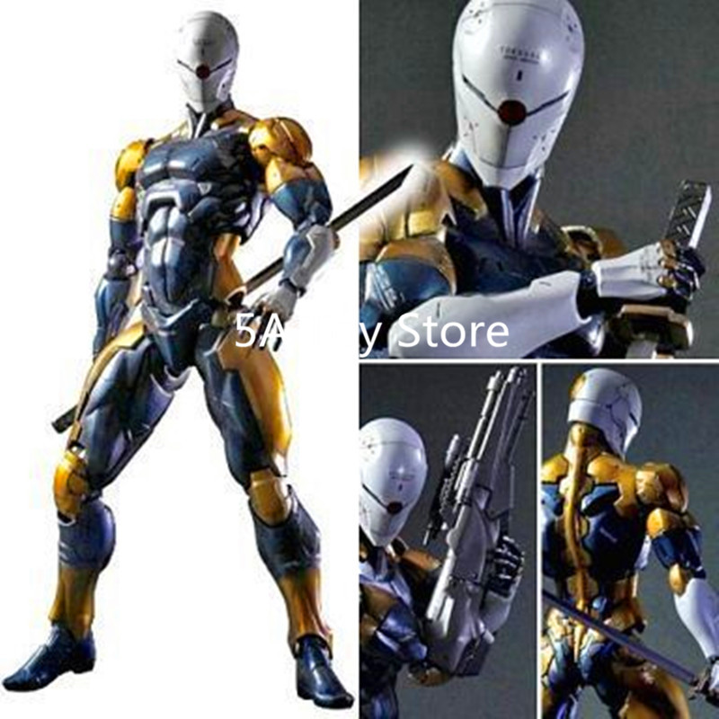 Play Arts Kai Metal Gear Solid Gray Fox PVC Action Figure Collectible Model Toy 24cm Retial BoxPlay Arts Kai Metal Gear Solid Gray Fox PVC Action Figure Collectible Model Toy 24cm Retial Box