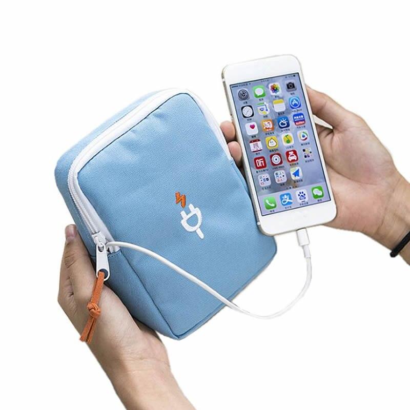 Fashion Digital Bag Data Lines Power Bank Package Travel Portable MultiFunction Headset Pouch Case Accessories Men Women Supplie