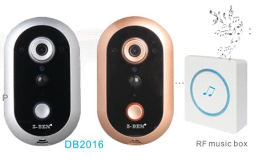 Wireless Intercom 720P WIFI IP Doorbell With Indoor Bell