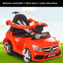 The cheapest price With Fence Multifunctional Rechargable ride on children electric car electric putter combo toy with putt