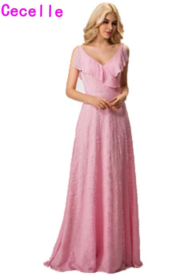 Menta corto modesto Vestidos de dama de honor con SASH V ...