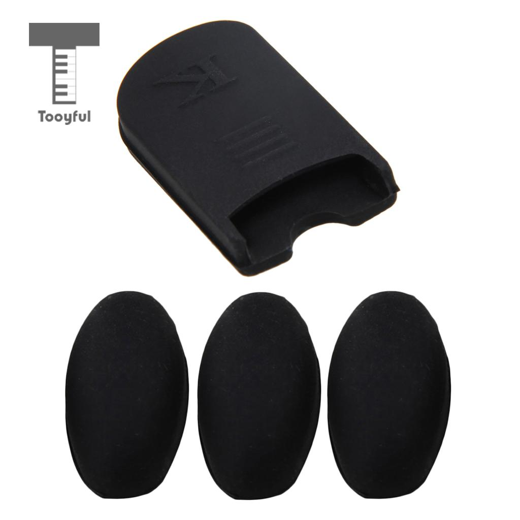 Black Thumb Rest Cushion Pad Finger Protector + Thumb Finger Rest Palm Key Risers For Saxophone Sax Wind Instrument Parts