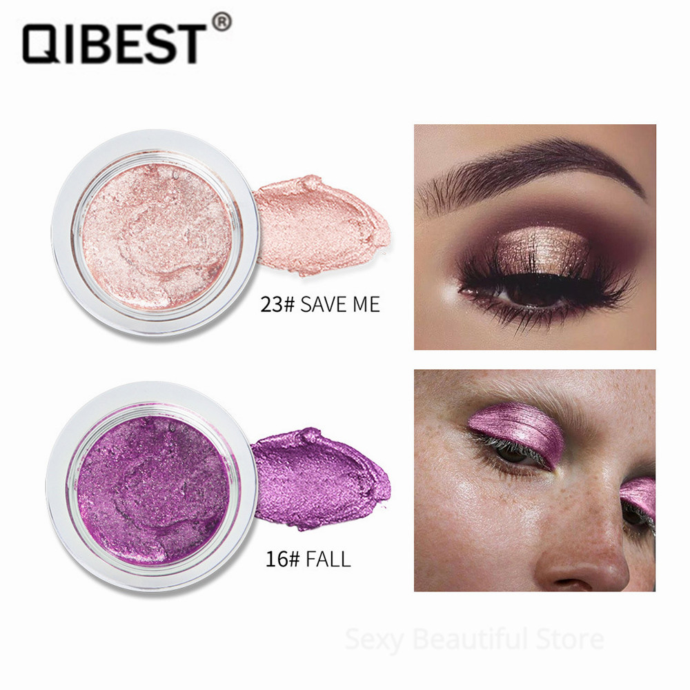 QIBEST Metallic Eyeshadow Gel Cream 25 Colors Flash Jelly High Light Cream Gold Champagne Pigment Shimmer Eye Shadow TSLM2 1