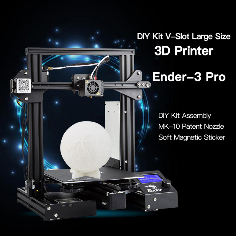 Ender 3PRO DIY 3D Imprimante Kit 220x220x250mm avec MK10 Extrudeuse 1.75mm 0.4mm Buse