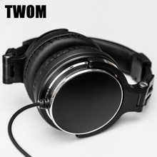 TWOM DIY QC3 HiFi Big Gaming Headphones for PC Subwoofer Computer Headset Stereo Earpiece Universal Wired Earphone for Game