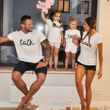 Talk and Show True Love Matching Family Couple Sister T Shirts Tee Blouse Top family matching clothes look father mother son dau(China)