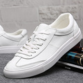 new summer autumn Leather Men white shoes casual lace up breathable fashion platform men shoes