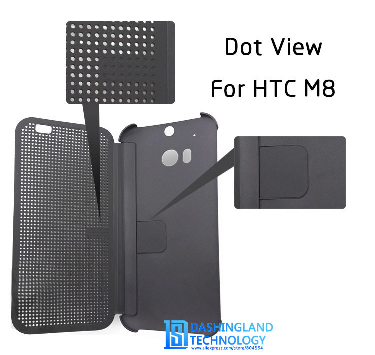 pretty nice aa44c d553d US $8.9  For HTC One M8 case DOT View For HTC One M8 Cover Smartphone Pouch  With Stylish Matrix Design TPU Flip Soft Hard Phone Cases on ...