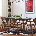 CH177 Оптовая Природных стул орех или золы деревянный Норман Чернер Стул Фанеры стулья красный черный белый обеденный стул