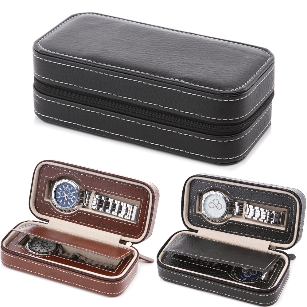 Aliexpress.com : Buy 2 Slots Watch Case Storage With ...