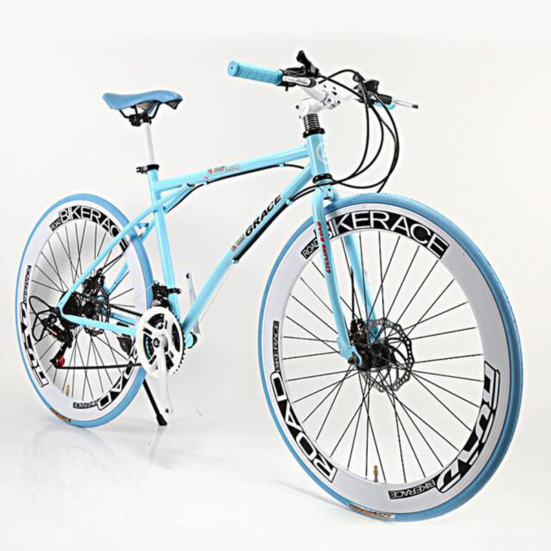 Adult Bicycle 26 Inch 21 Speed Double Disc Brake Students Mountain Bike High Quality Carbon Steel Material