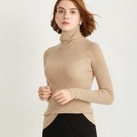 Super Comfort Women Turtleneck Cashmere Sweaters Slim Ribbing Unibody 3D Knit Pullover Cuff Hem Knit Tops Female Girls Jumper