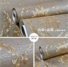 Haft 3d luksusowe głęboko tłoczone włókniny tapety tv tle tapety