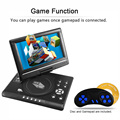 RD-998 9 inch DVD Player 16:9 TFT Screen 800 * 480 Pixel 3D Movies FM Supports SD / USB / AV for Gamepad TV DVD / CD / MP3