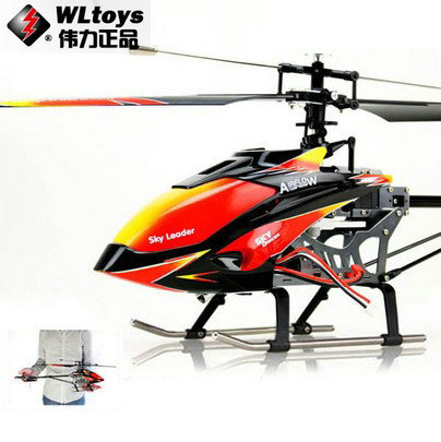 цена WL toys V913 Sky Dancer 4Channels FP Helicopter 2.4GHz w/ Built-in Gyro v913 toys rc helicopter model Free Shipping