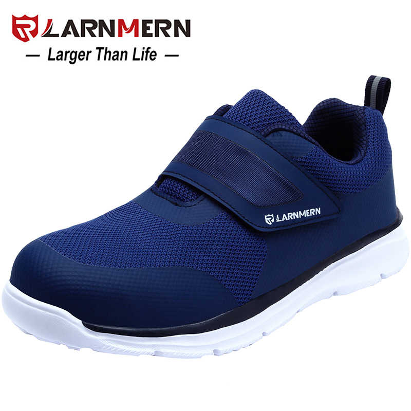 LARNMERN mannen Veiligheidsschoenen Stalen Neus Bouw Beschermende Schoeisel Lichtgewicht 3D Shockproof Werk Sneaker Schoenen Voor Mannen