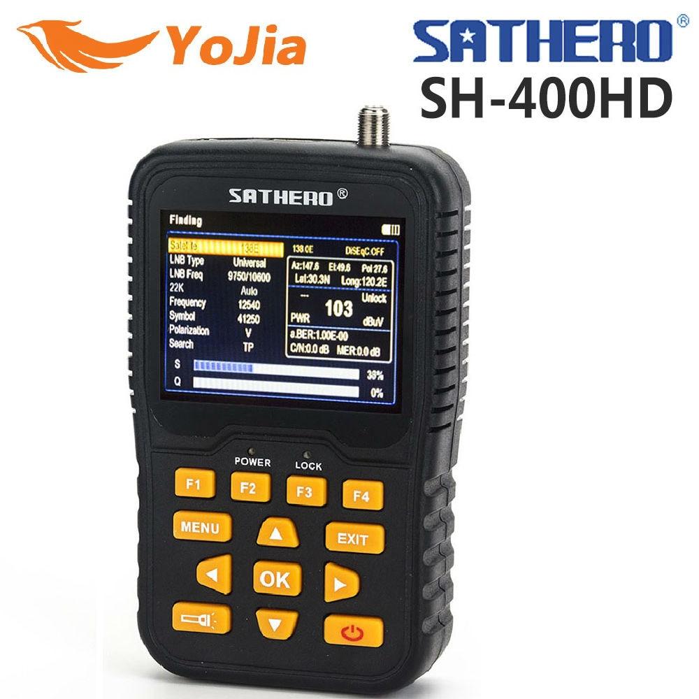 Yojia SATHERO SH-400HD DVB-S2 DVB-S Signal Satellite Finder 3.5 inch LCD Screen 8PSK 16APSK Sathero-400HD Digital Meter Finder hot sales original satlink 6906 satellite signal finder dvb s fta digital satellite meter ws 6906 finder 3 5 inch tft lcd screen
