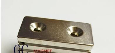 1pcs F50x25x5mm hole 5mm Strong N52 Rare Earth Permanent Neodymium NdFeB Magnet 50*25*5-5-5mm diy 5 x 5mm cylindrical ndfeb magnet silver 20 pcs