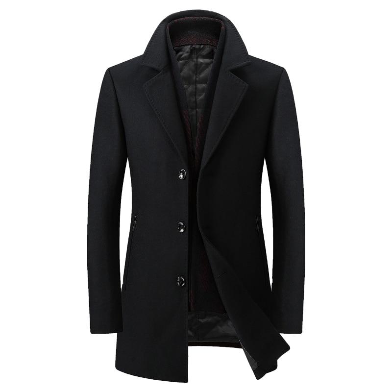 Laine marron Mince Black Amovible Manteau Tranchée Unique Haute ardoisé Green Poitrine Qualité Homme Mâle Écharpe dark Blue nOwxqpHqg8