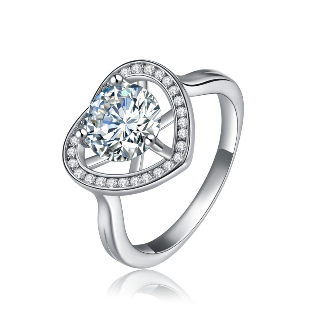 Saint Valentine's Day Women Engagement Luxury Ring For Love Heart Jewelry Birthday Wedding Silver Color Ring 7 8 9 To Be Distributed All Over The World