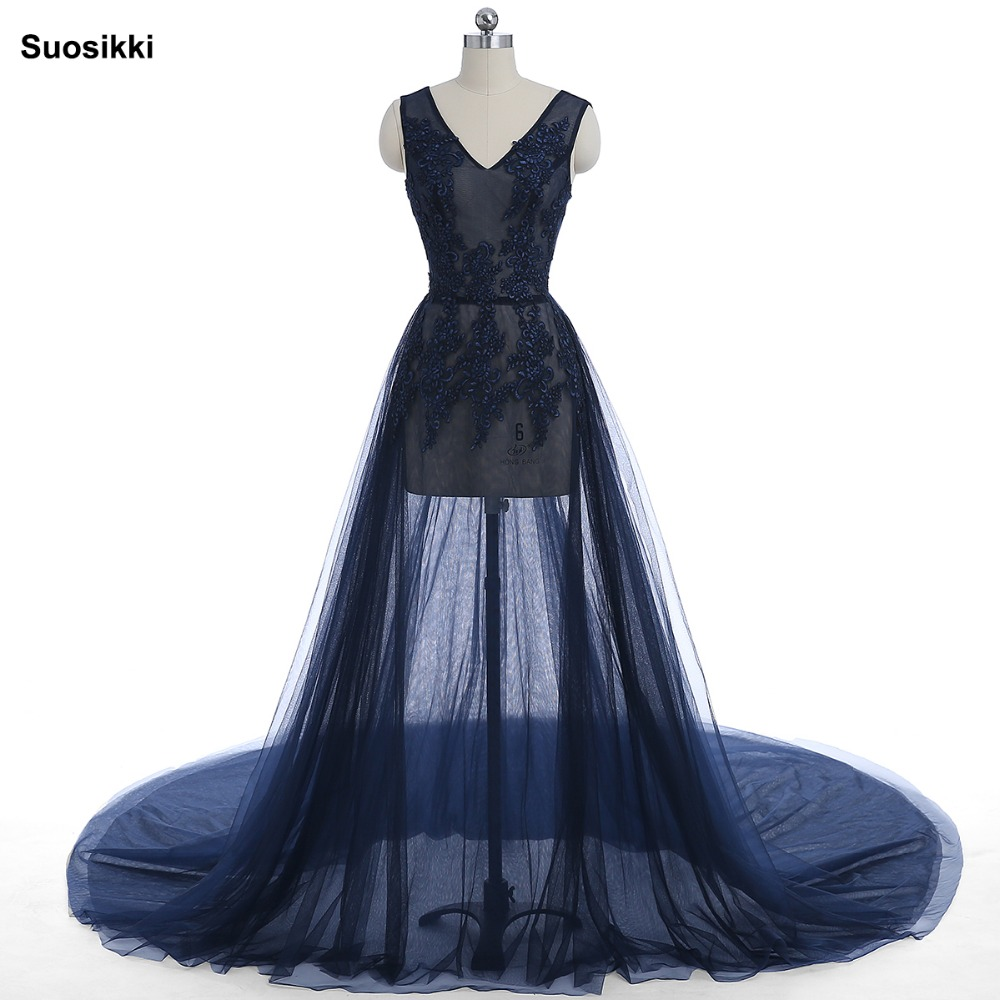 aad21fc6872 Lace Formal Pregnant Photo dress Sleeveless See Through Blue Prom Evening  Dresses Custom Size Plus Size