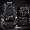 Wlmwl universal couro capa de assento do carro para skoda octavia fabia rápida superb kodiaq todos os modelos yeti estilo do carro acessórios