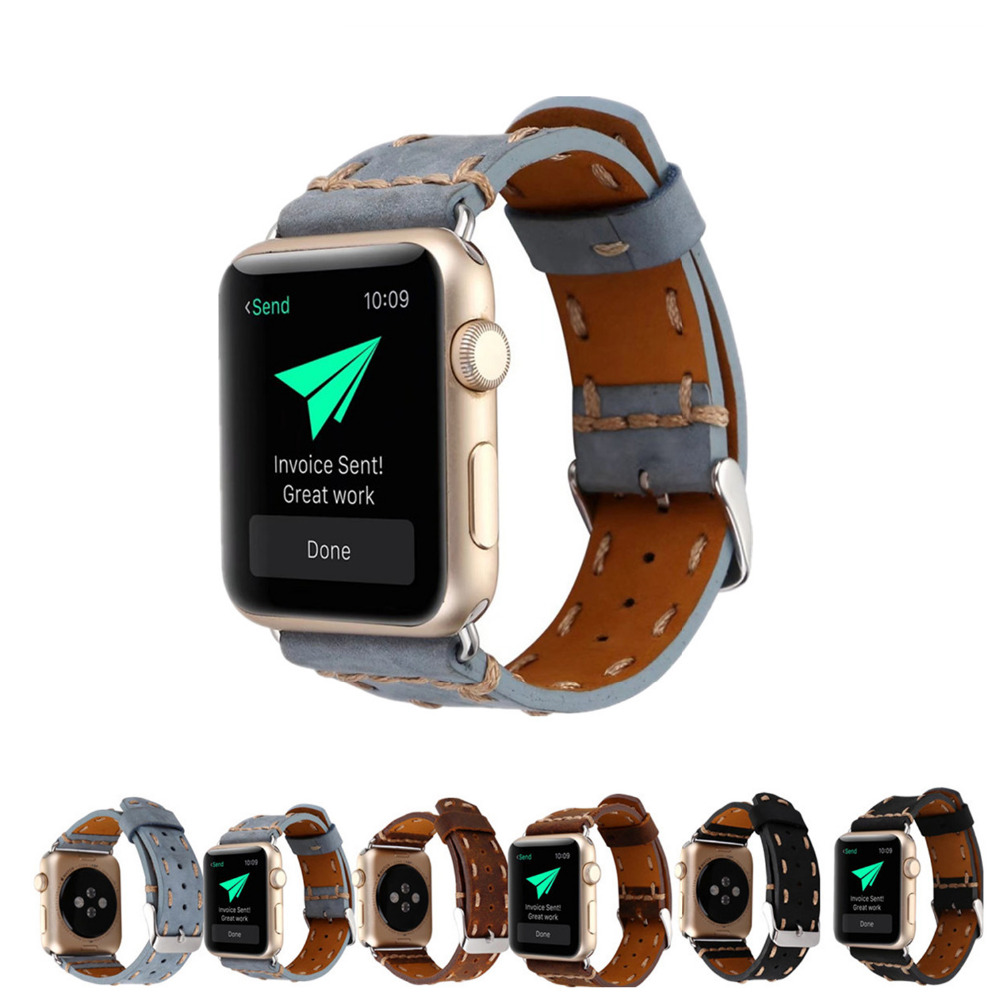 weave Genuine Leather Watch Strap For Apple Watch Band 42 mm/38 wrist watchband replacement band for iwatch 1/2/3 6 colors luxury genuine leather watchband for apple watch sport iwatch 38mm 42mm watch wrist strap bracelect replacement