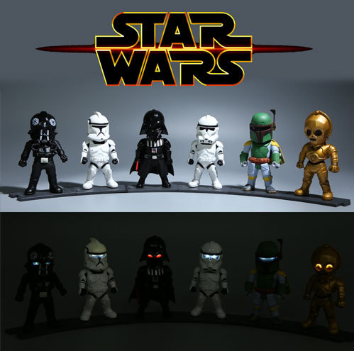 hot ! NEW 6pcs/set 10cm Star Wars 7 The Force Awakens C-3PO Darth Vader PVC action figure toy 10cm nendoroid star wars toy the force awakens stormtrooper darth vader 501 502 pvc action figure star wars figure toys