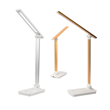 LED Desk Lamp Eye-caring Table Lamps Dimmable Office with USB Charging Port 3 Brightness Levels Touch Control White 5W
