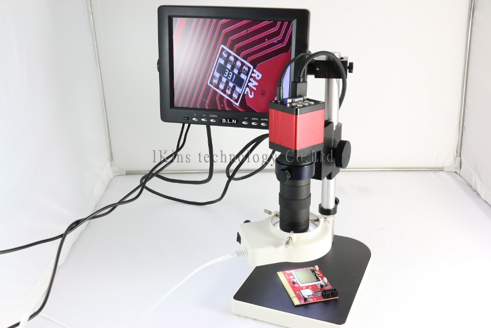 Full set 13MP HMID VGA outputs Industry Microscope Camera stand+130x C-mount +56 led rings +7