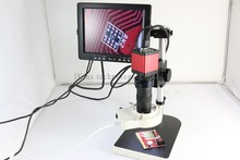 Full set 13MP HMID VGA outputs Industry Microscope Camera stand+130x C-mount +56 led rings +7″monitor screen