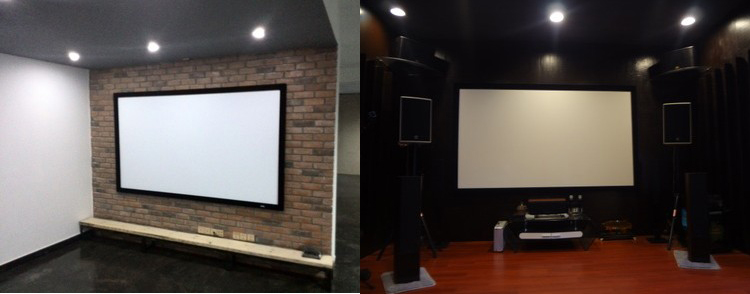 projector screens projection fixed frame