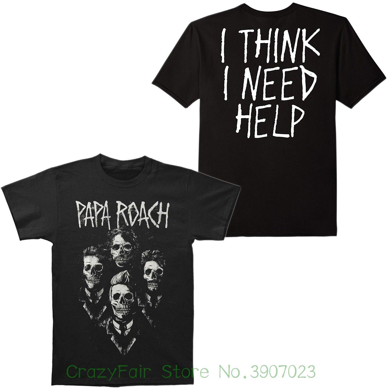 e9e37bc402c3 Authentic Papa Roach I Think I Need Help Portrait Slim - Fit T-shirt S - Xl  New Print Round Neck Man
