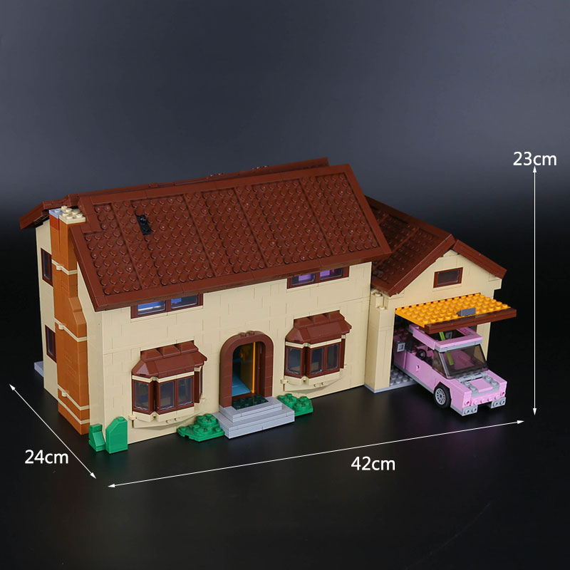 Image 5 - Free shipping DHL 16005 Simpsons House 2575Pcs Model Building Block Bricks Compatible with 71006 Toys Gift for children brithday-in Blocks from Toys & Hobbies