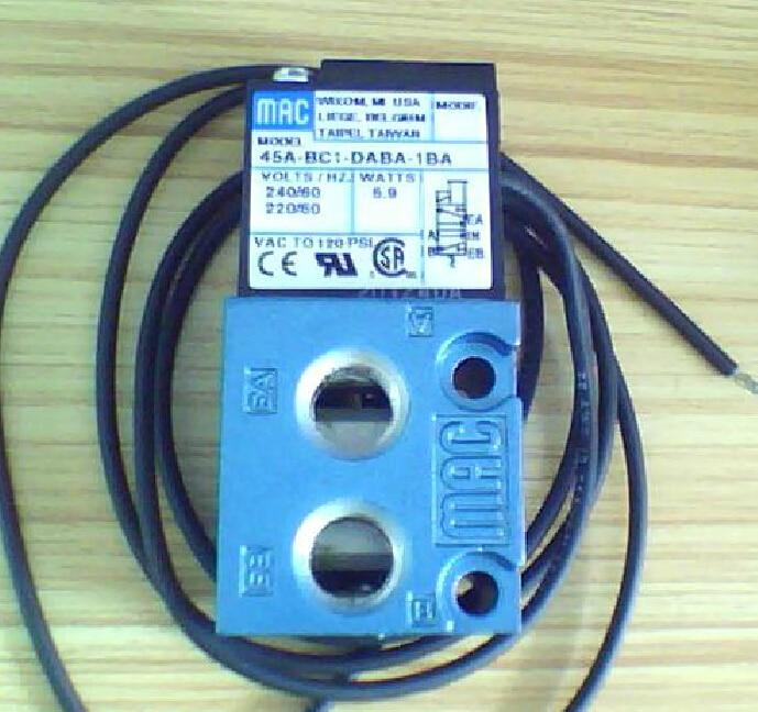 New and original America MAC solenoid valve 45A-BC1-DABA-1BA  AC220V new and original festo solenoid valve mlh 5 1 8 b original authentic