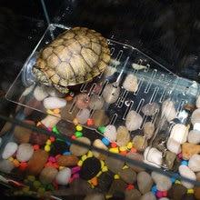 Черепаха греется на террасе остров акриловая черепаха рептилии док Плавающая Платформа подъем Террариум аквариум украшения@ LS