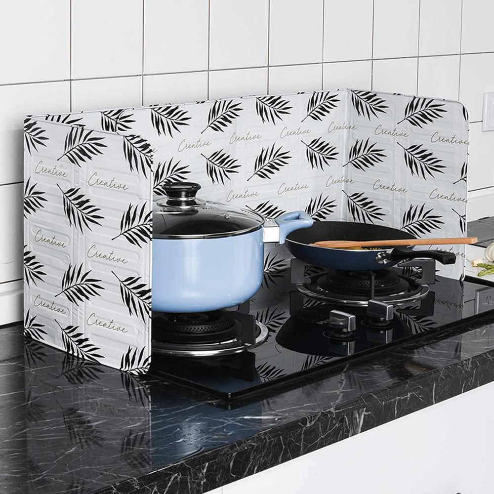 Placa de Fogão A Gás Da Folha de Alumínio de Óleo de cozinha Óleo de Telas Splatter Cozinha Cozinhar Ferramentas À Prova de Salpicos de Isolar Defletor Placa 11.8