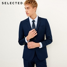 дешево!  SELECTED Мужская полушерстяная деловая куртка Slim Fit T