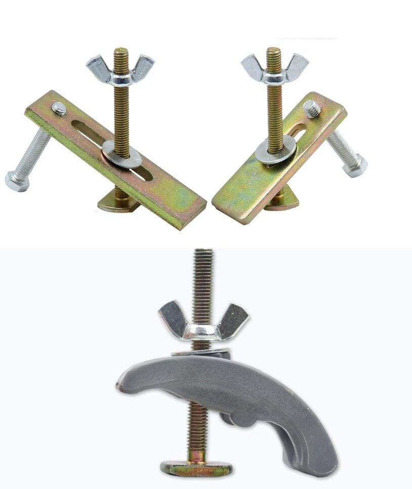 8 ensembles/lot 80mm100mm Nylon CNC fraisage sculpture machine de gravure pince de pression luminaire plateau routeur T fente table de travail