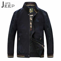AFS JEEP Dark Blue Autumn Man S Cargo Pure Cotton Jacket 5XL 4XL Plus Size Loose
