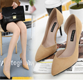 3363-2 fine with Europe and the United States during the spring and autumn new suede tines side empty single shoes lighter heels