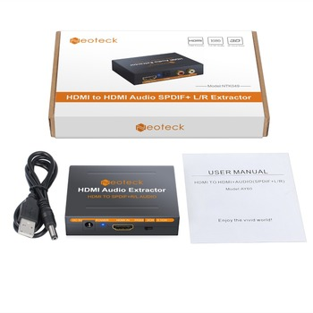 Neoteck HDMI to Optical Toslink Spdif R/L RCA Analog HDMI Video Adapter  Splitter HDMI to HDMI Audio Extractor For HD Box PS3 PS4