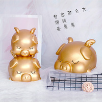 Pig Home Decor Craft Jars Funny Money Box for Kids Save Hidden Money Piggy Banks