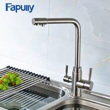 Fapully 3 Way кухонный кран водопроводный кран с питьевой воды очиститель кухне фильтрованная вода кран Torneira де Cozinha