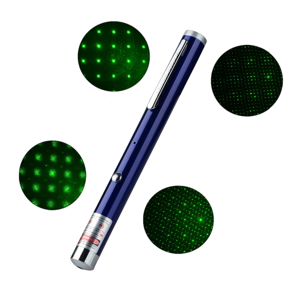Rechargable Glittering Red Color 532NM-405NM Beam Point Laser Pointers USB Charging Laser Pens